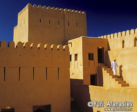 Sultanate of Oman. Nizwa, the fort in the old town