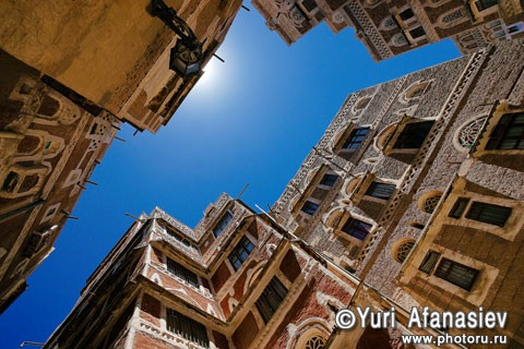 Sanaa Yemen. Old City recognized by UNESCO. Photographer Yuri Afanasiev