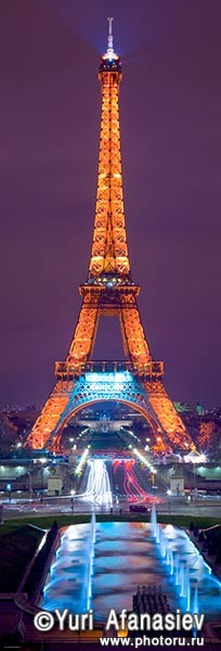 Панорама парижа ночной париж