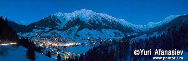 Панорамная фотография, панорамная съемка. Фотограф Юрий Афанасьев. Фото панорама Швейцария