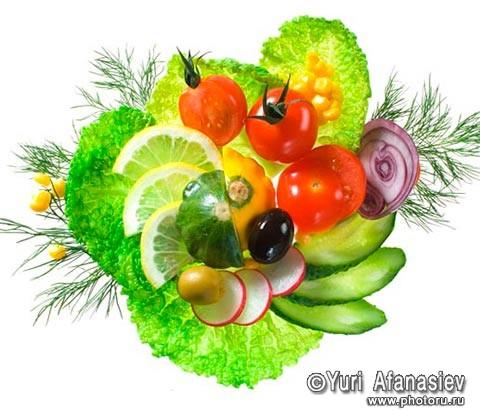 Фотосъемка еды пищевых продуктов для