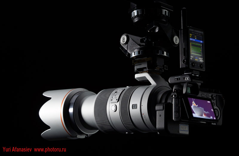 Camera SONY Alpha Nex7. Lens Adapter for LA-EA2. Lens 70-400mm F4-5.6 G SSM. Photo by Yuri Afanasiev
