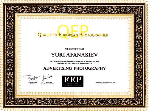 � 2007 ����, ���� ��������� ������� ���������� QEP (QEP - Qualified European Photographer) - «����������������� ����������� �������� �������».